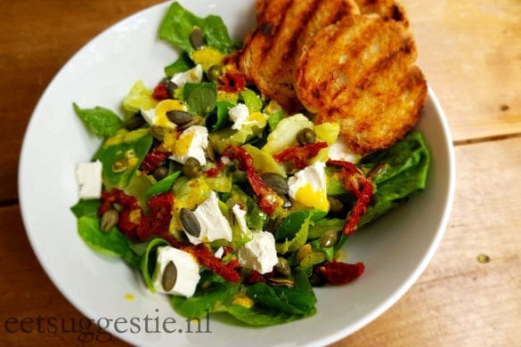eetsuggestie.nl salade feta zongedroogde tomaat